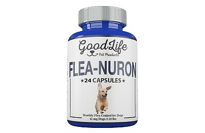 2 YEAR SUPPLY Monthly Flea Control For Dogs 2-10 Lbs. 45Mg GoodLife 24 Capsules