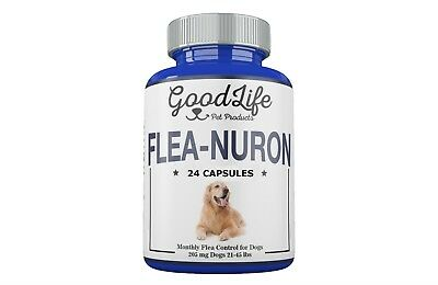 2 YEAR SUPPLY Monthly Flea Control Dogs 21 -45 Lbs. 205 Mg GoodLife 24 Capsules