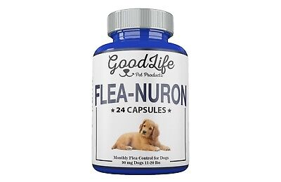 2 YEAR SUPPLY Monthly Flea Control DOGS 11-20 Lbs. 90 Mg GoodLife 24 Capsules
