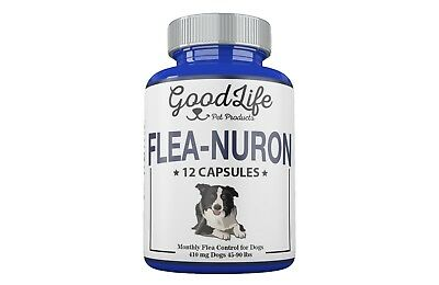 MONTHLY Flea Control 1 Year Supply For Dogs 45 -90 Lbs. 410 Mg GoodLife 12 Caps