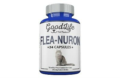 2 YEAR SUPPLY Monthly Flea Control CATS 2-20 Lbs. 205 Mg GoodLife 24 Capsules