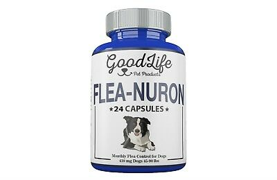 2 YEAR SUPPLY Monthly Flea Control DOGS 45-90 Lbs. 410 Mg GoodLife 24 Capsules