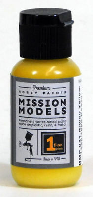 Mission Models Hobby Airbrush Paints - Hiway Yellow 1 oz Acrylic Paint - MMP-041