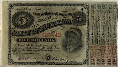 State of Louisiana $5 Baby Bond