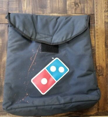 DOMINO'S PIZZA INSULATED THERMAL LARGE DELIVERY BAG HOT some stains