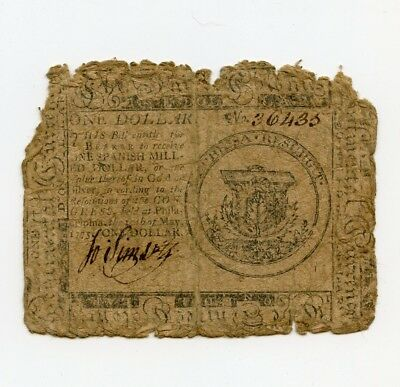 1775 Colonial Currency One Dollar Note