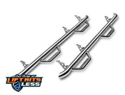 N-Fab F0989QC-SS Stainless Steel Wheel to Wheel Nerf Step Bar 09-14 Ford F-150