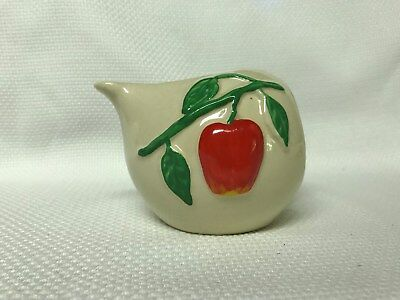 "Vintage Ceramic Apple Creamer ""Pippin USA"" GUC"