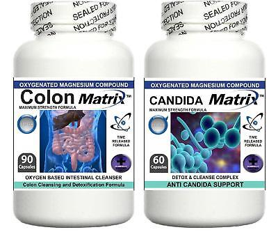 Colon Candida Matrix Oxy Detox Bowel Cleanser Diet Powder Pills Weight Loss Aid