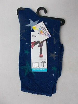 3 Pairs Hue Womens Femme Top Socks 1102 Light Blue Gingham One Size