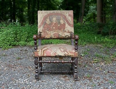 Antique Continental Early 18th/Late 17th Century Armchair