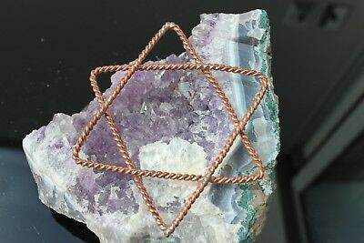 2d Merkaba Star Tensor Ring Pendant 4.5/9cm Star Gate Ascension Tool Meditation