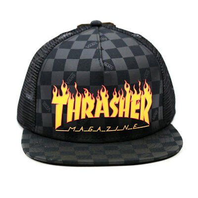 8c998cb850 VANS OFF THE WALL Snapback Cap THRASHER Magazine Surf Skate Adult Hat OSFM  NWT