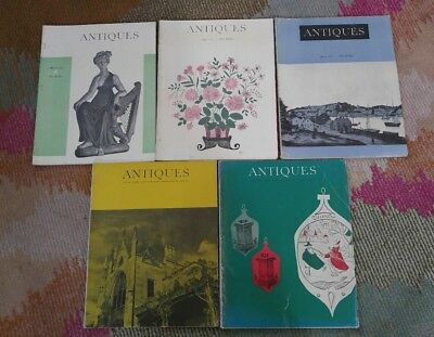 The Magazine ANTIQUES- LOT OF 5 from the 1960's COLLECTABLE