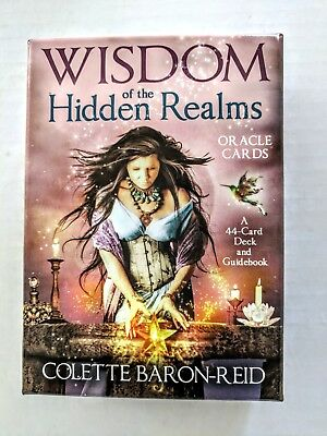 Tarot Cards Wisdom of the Hidden Realms A 44 Card Deck & Guidebook Gold Edge New