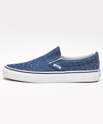 New Vans Classic Slip On Star Dots dress blues Shoes Men Sneakers Limited  Size 355b39b3c4