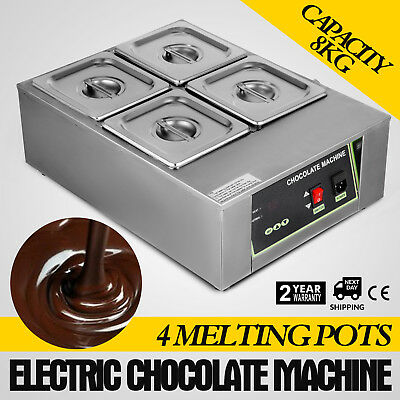 Commercial Electric Chocolate Tempering Machine Identical 4 Melting Pot 1500W