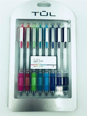 NEW Tul 8 Pack Brights GL Series Gel Ink Retractable 0.7 Medium Point Pens