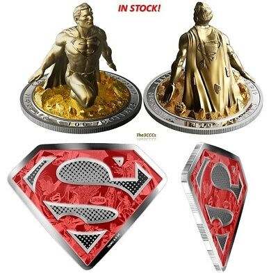 Pure Silver Gold-Plated Coin-The Last Son of Krypton and Superman's Shield