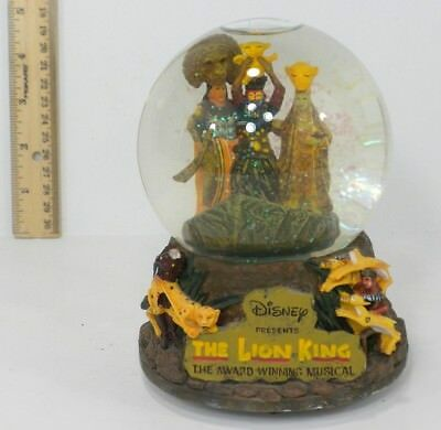Disney The Lion King The Award Winning Musical Snow Globe Plays Circle Of Life
