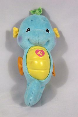 Fisher Price Blue Seahorse Soothe Glow Musical Night Lights Plush