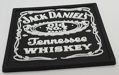 Jack Daniels Old No. 7 Rubber Coaster Bar Rail Spill Mat Style 1 Mini Mat New