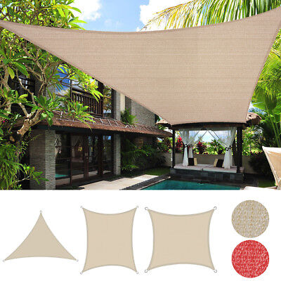 Sun Shade Sail Outdoor Canopy Patio Cover UV Block Lawn Awning 8' 10' 12' 16'