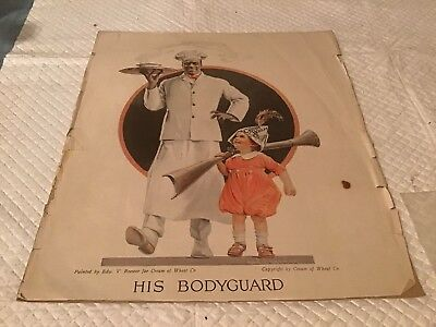 Cream of Wheat ad His Bodyguard by Edward V Brewer 1921 YC