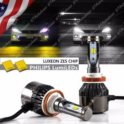 H11 H8 H16 36000LM White Yellow LED Hi Lo Beam Headlight Fog Light Lamp Kit