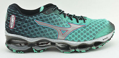 buy online 75ce8 f4269 Womens Mizuno Wave Prophecy 4 Running Shoes Size 8.5 Turquoise Green Black  Gray