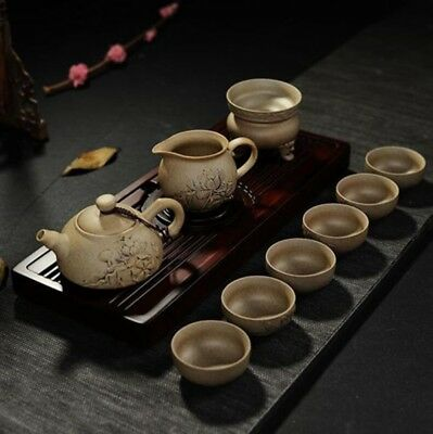 Chinese Yixing clay teapot coarse pottery tea sets Kung Fu Tea Quik Tea Tea Set