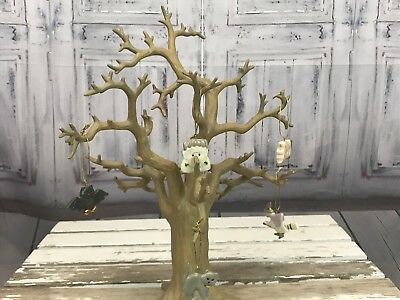 Lenox Holiday Halloween Bare Tree Hanging Ghost Owl Cat Pumpkin Xmas Holiday