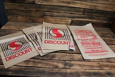 Vintage Safeway Woolworth's Rite-Way Advertising Paper Bag