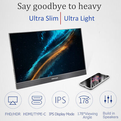 SIBOLAN S3 15.6 inch 4mm ultra slim HDR Portable Monitor IPS 1080P dual HDMI