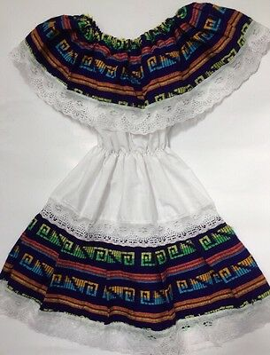 Mexican Girl 2T Costume Traditional Ethnic Halloween Party Mexico Dress Oaxaca