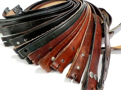 Lot of 15 Leather Belt Straps Only Mens Reseller Wholesale Distress Black Brown