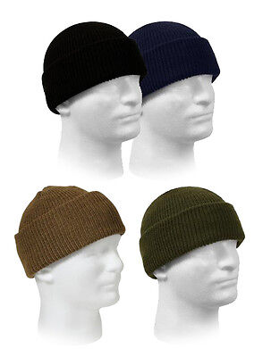6f334d44f24413 Rothco 100% Wool Genuine GI Military Winter Beanie Knit Watch Cap Made in  USA