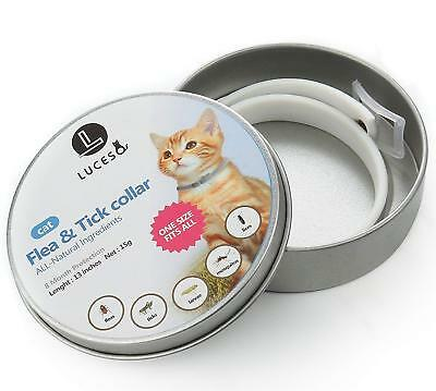 LUCESO flea protection collar for cat - 8 Month Protection, 1 size fits All