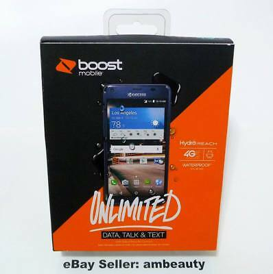 """NEW Boost Mobile Kyocera Hydro Reach Waterproof 4G LTE 5"""" Andriod 5.1 8GB 5MP"""