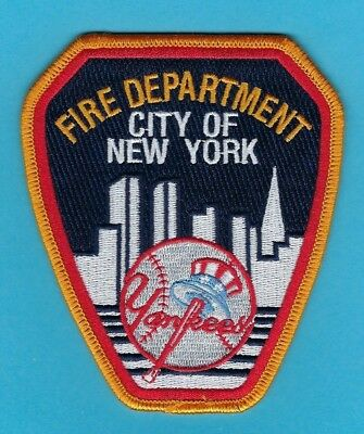 New York Yankees New York City Fire Department Patch ~ Bronx Bombers ~ Awesome