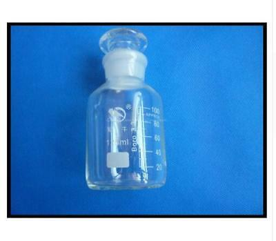 125ml White lucency Lab Glass Reagent bottle, wide mouth, with ground stopper