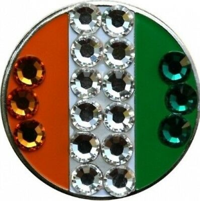Irish Flag Golf Ball Marker with Matching Hat Clip. Free Shipping