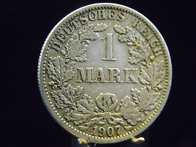 - M.F.B - Deutsches Kaiser Reich Wilhelm II1 Mark 1907 A - Berlin in ss+/++  444
