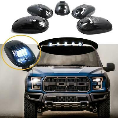 5x Lenti Fumè Rooftop Cab Luci Led Bianco per Ford F-150 Super Duty Camion