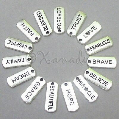 Inspirational Message Wholesale Charms 15PCs Mix CL1001 - 15, 30, 45 Or 60PCs