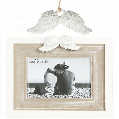 Angel Wings Wooden Photo Picture Frame Home Decoration Small White Angel Wings