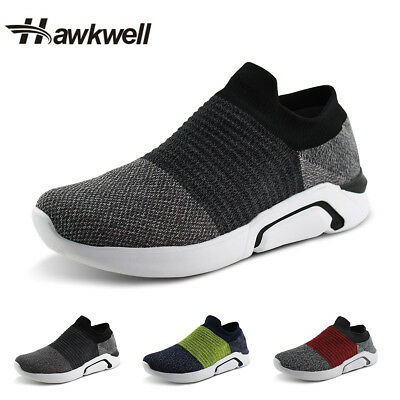 Fashion Mens Casual Shoes Sock Knit Running Slip-on Sneaker Hawkwell