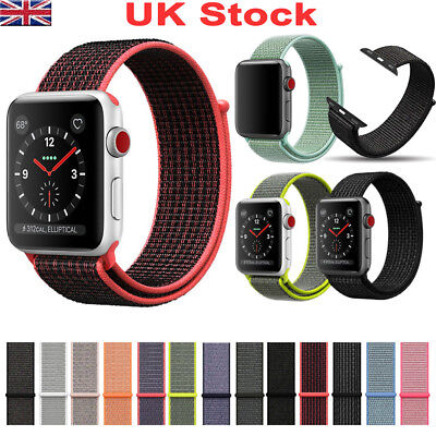 38/42mm Replacement Nylon Sport Band Strap for Apple Watch iWatch Serie 1/2/3