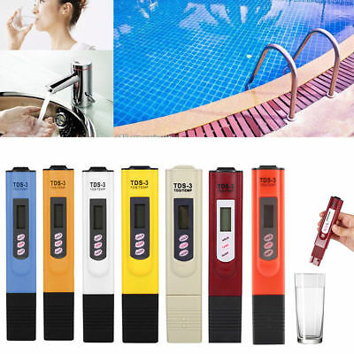 Digital LCD TDS Water Quality Purity Monitor Aquarium Pool PH PPM Meter Tester