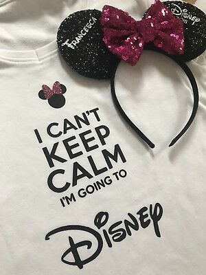 I Can't Keep Calm Im Going To Disney Boys Girls Tshirt Top Outfit Aged 1-2 Years